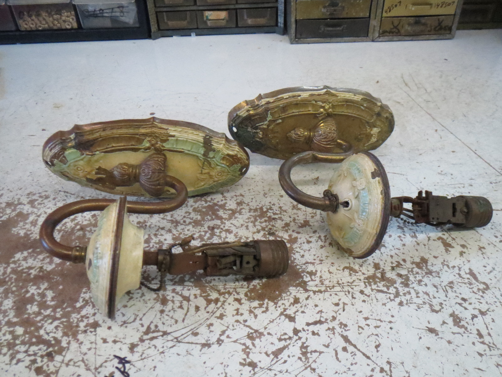 Lamp Parts and Repair | Lamp Doctor: Repaired Antique Wall ... on Wall Sconce Parts id=37625