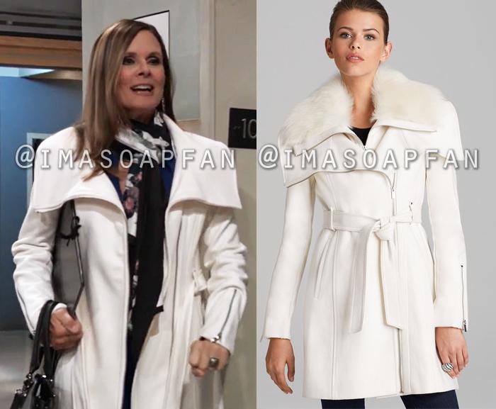 Lucy Coe, Lynn Herring, White Wool Coat, General Hospital, GH