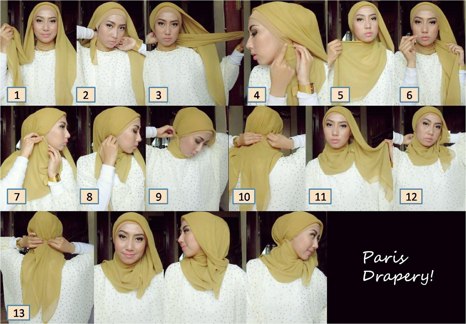 30 Koleksi Tutorial Hijab Paris Kepang Paling Baru Tutorial Hijab