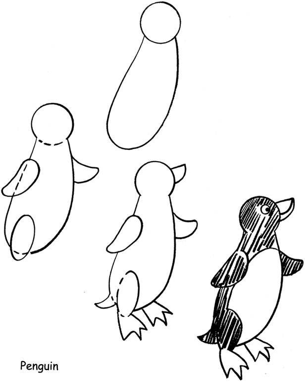 Penguin Drawings For Kids inkspired musin...