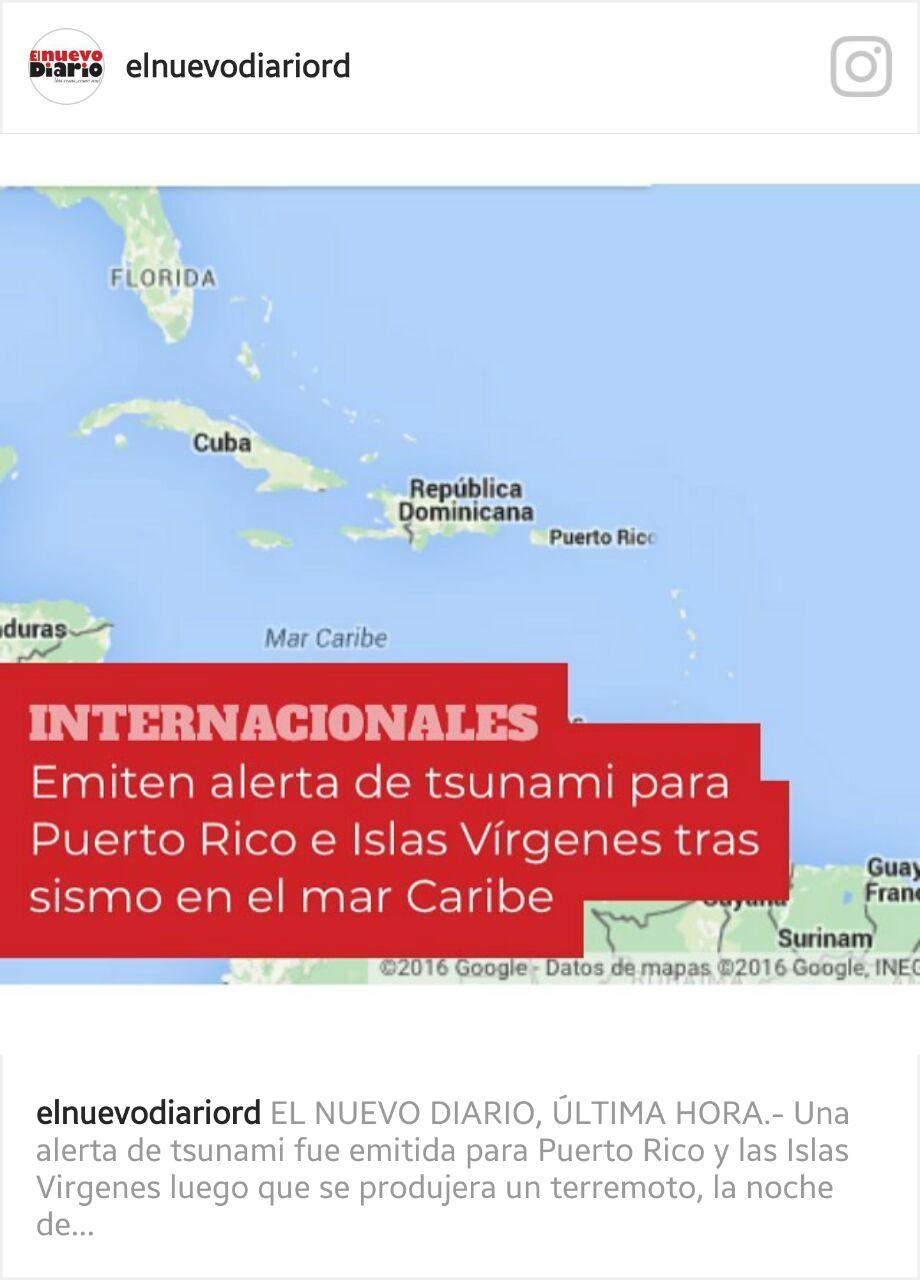 Se produce fuerte sismo de magnitud 7.8 en el Mar Caribe a unos 36 Km del este-noreste de Honduras.