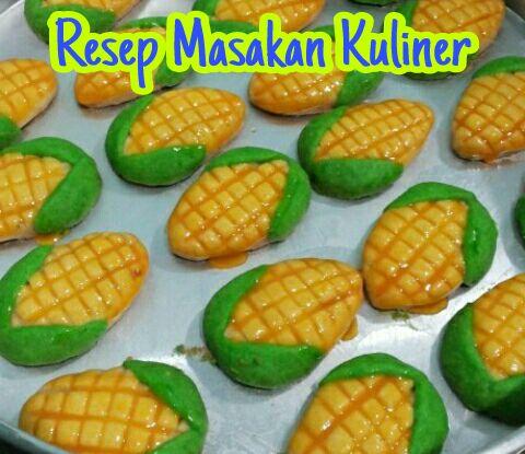 Nastar Bentuk Jagung, resep nastar bentuk jagung, cara membuat nastar bentuk jagung,