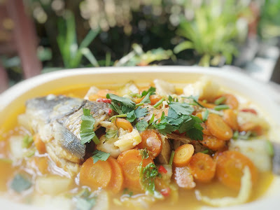 Resep Ikan Mas Kuah Sayuran