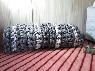 plarn, plastic yarn, rug, mat, crochet,
