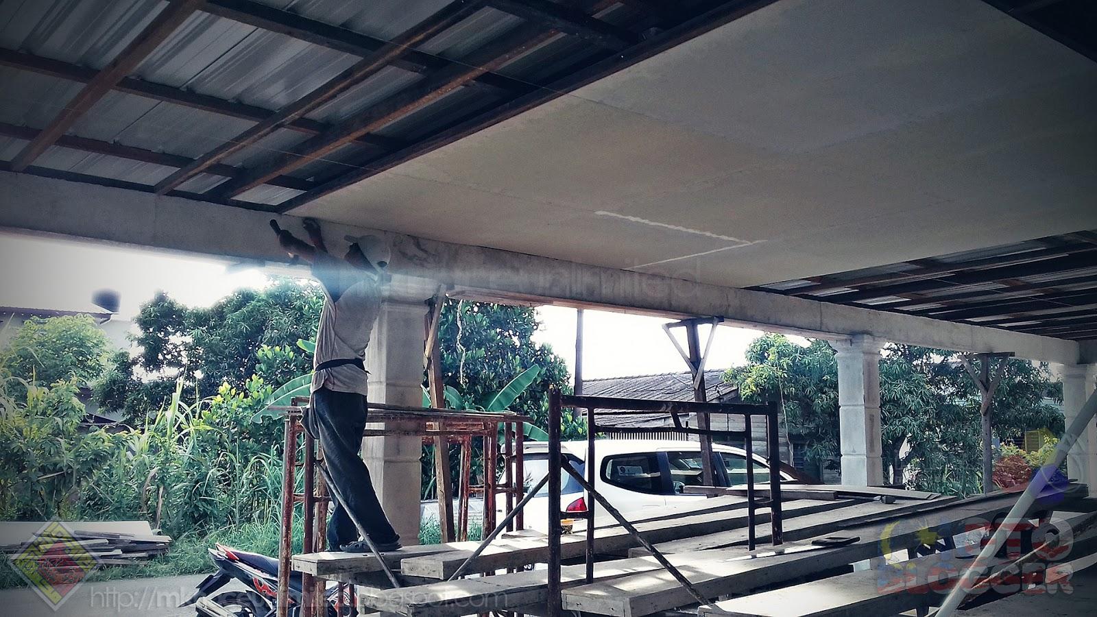 Home Sweet Renovation Phase 3 20181128 Progress Mknace Tcash Vaganza 17 Us Baby Mosquito Sticker Dah Mula Naik Syiling Untuk Porch