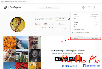 Upload Foto di Instagram Lewat PC Browser Chrome