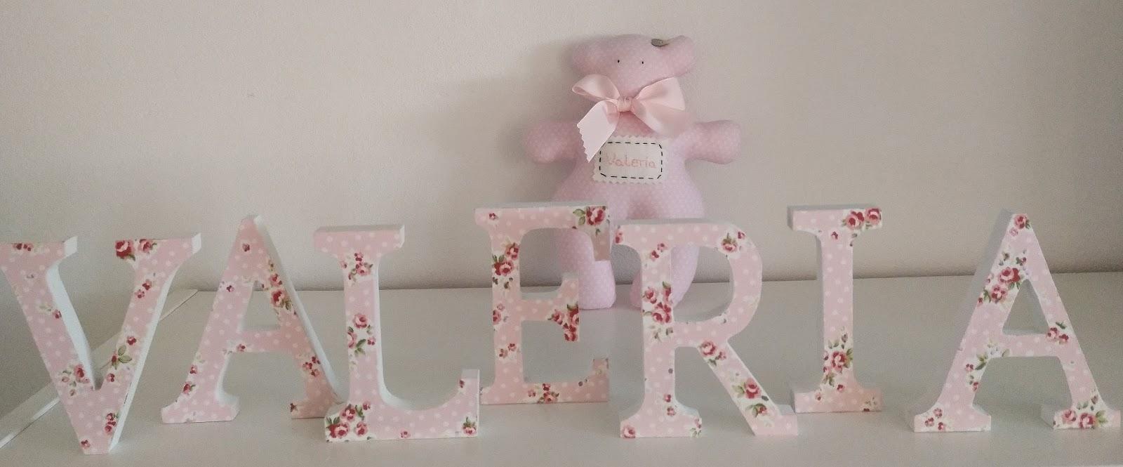 Creaciones elyser conjuntos de nombres infantiles con - Letras bebe decoracion ...
