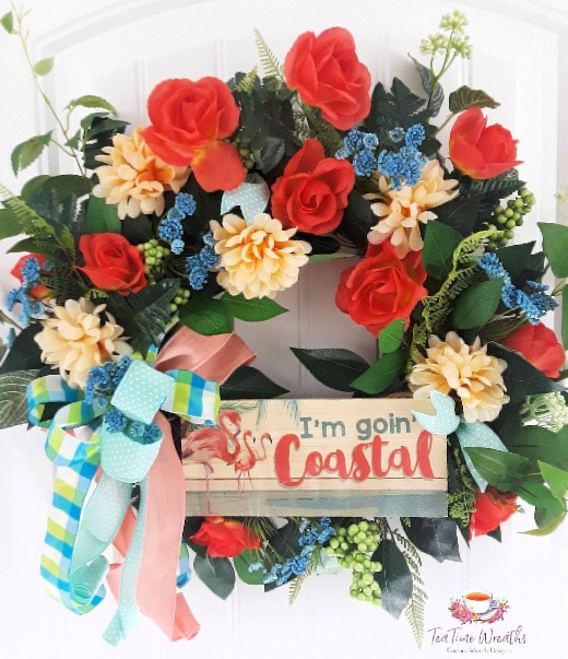 Coastal Flower Wreath