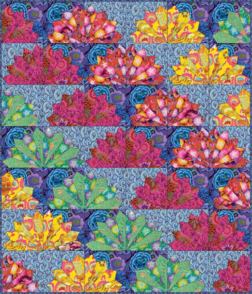 Fan Dance Quilt Free Pattern Designed by Kaffe Fassett for FreeSpirit