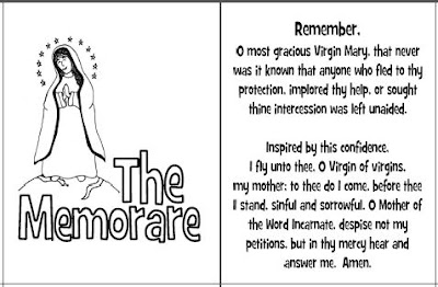 Look to Him and be Radiant: Memorare Prayer Cards