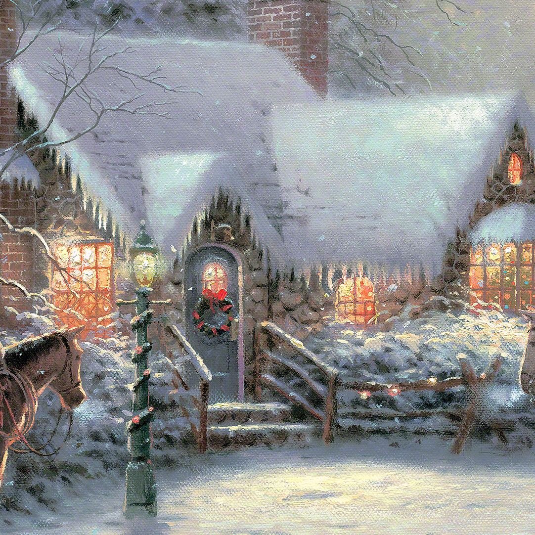 Thomas Kinkade Christmas.Thomas Kinkade Memories Of Christmas Tutt Art Pittura