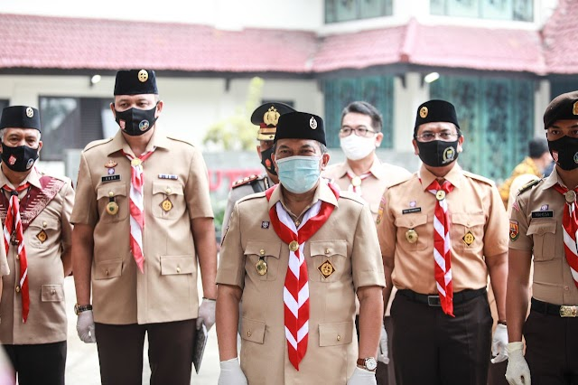 Kwarcab Pramuka Kota Bandung Berperan Aktif Ditengah Pandemi