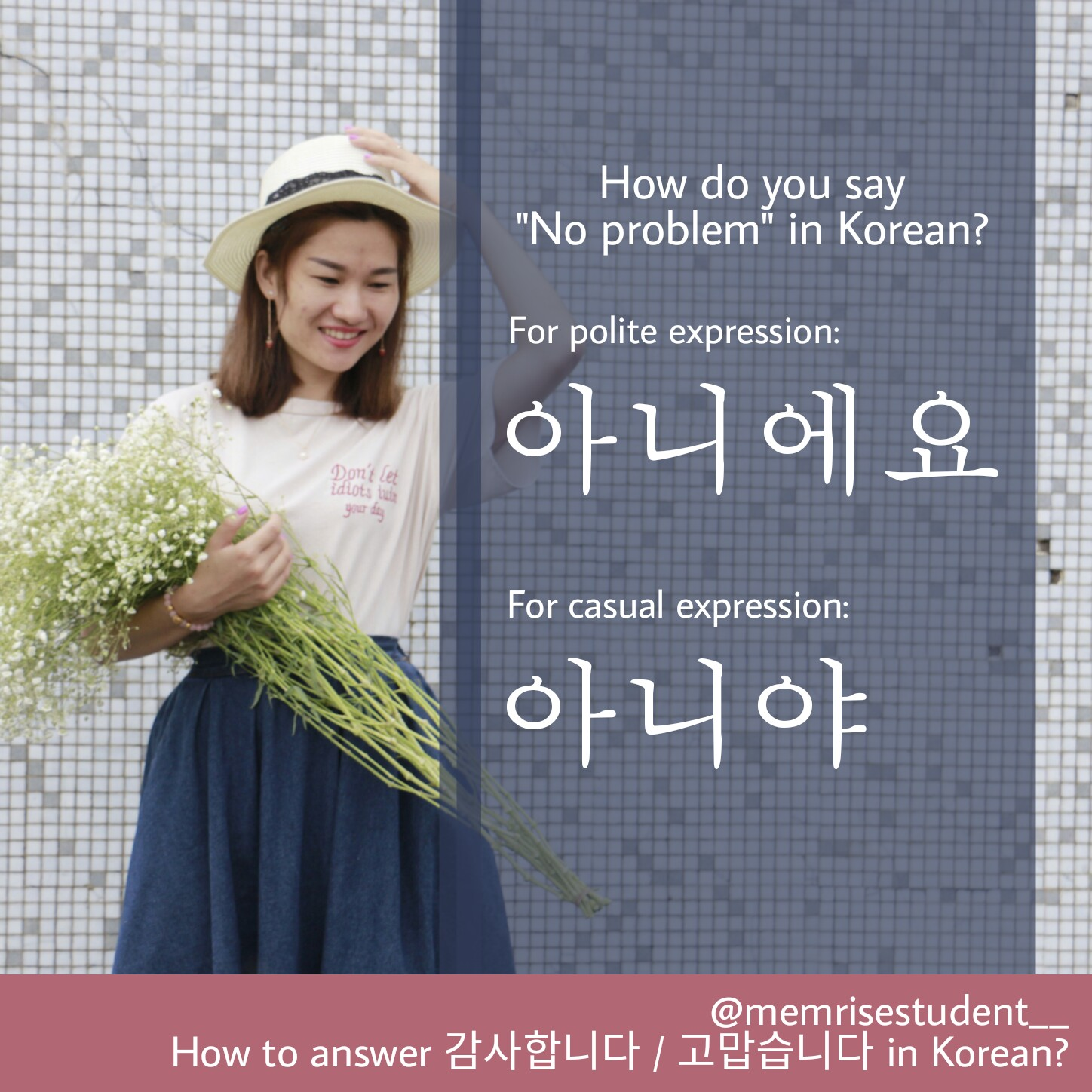 How do you say you're welcome in Korean for daily conversation?