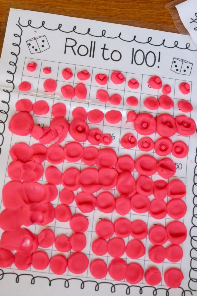 100s Board Math Game