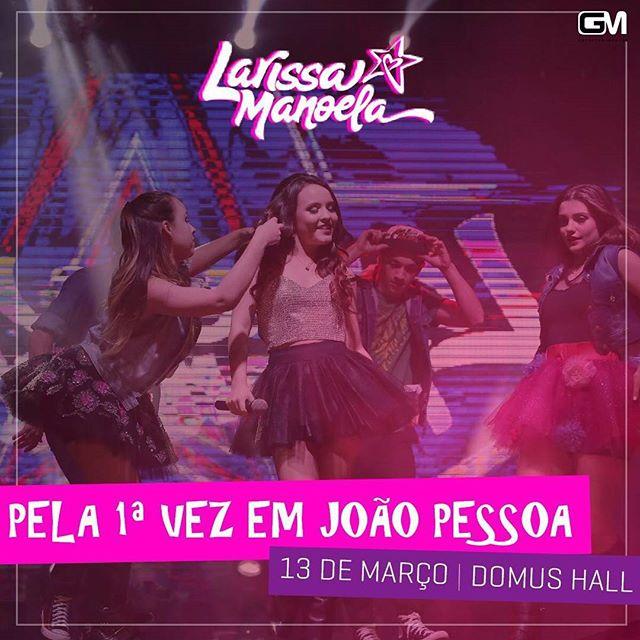 8190b9a175ba5 ACONTECE  Larissa Manoela pela primeira vez em João Pessoa
