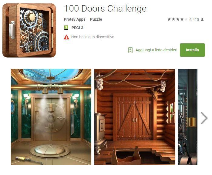 Soluzioni 100 Doors Challenge livello 1 2 3 4 5 6 7 8 9 10