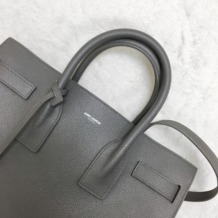 eafe4df22289 Review  Saint Laurent Sac De Jour Leather Tote - Elle Blogs