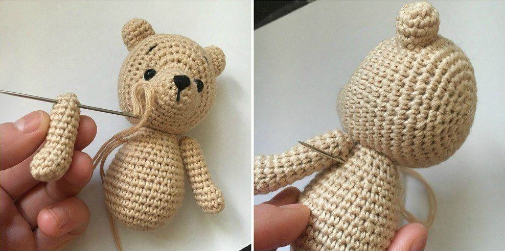 Amigurumi bear crochet tutorial