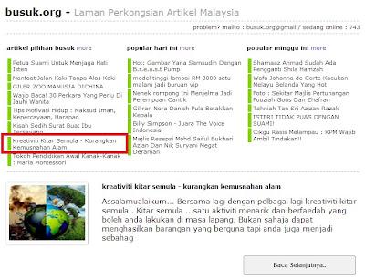 artikel pilihan busuk.org
