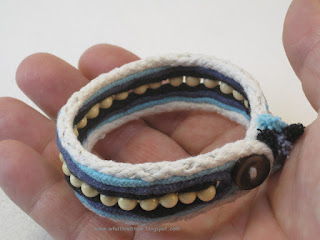 handcrafted wood bead bracelet