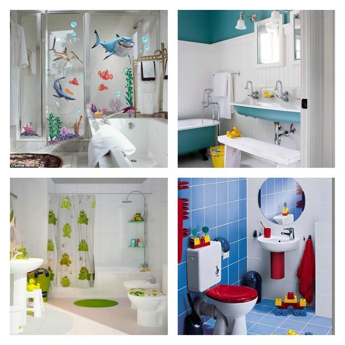 decoración baños casas con niños