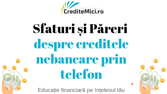 Credite nebancare prin telefon