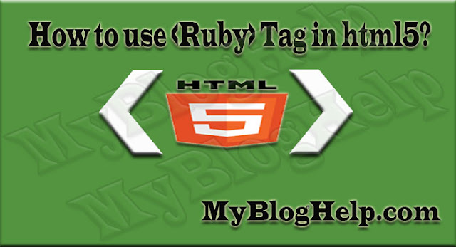 ruby tag in html