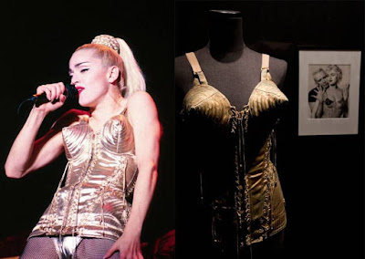 Washpapa, washable paper, kraft paper, corset, Madonna, Gaultier, vegan leather, paper clothes, #washpapachallenge, conical bust, corsetry,