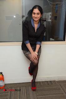 Telugu Actress Priyanka Pallavi Stills in Micro Mini Skirt at Nenosthaa Movie Song Launch at Radio City  0062.JPG
