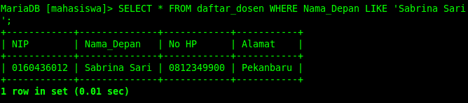 Belajar Mysql Part 18 Pencarian Data Dari Table Mysql Select Like Blc Telkom