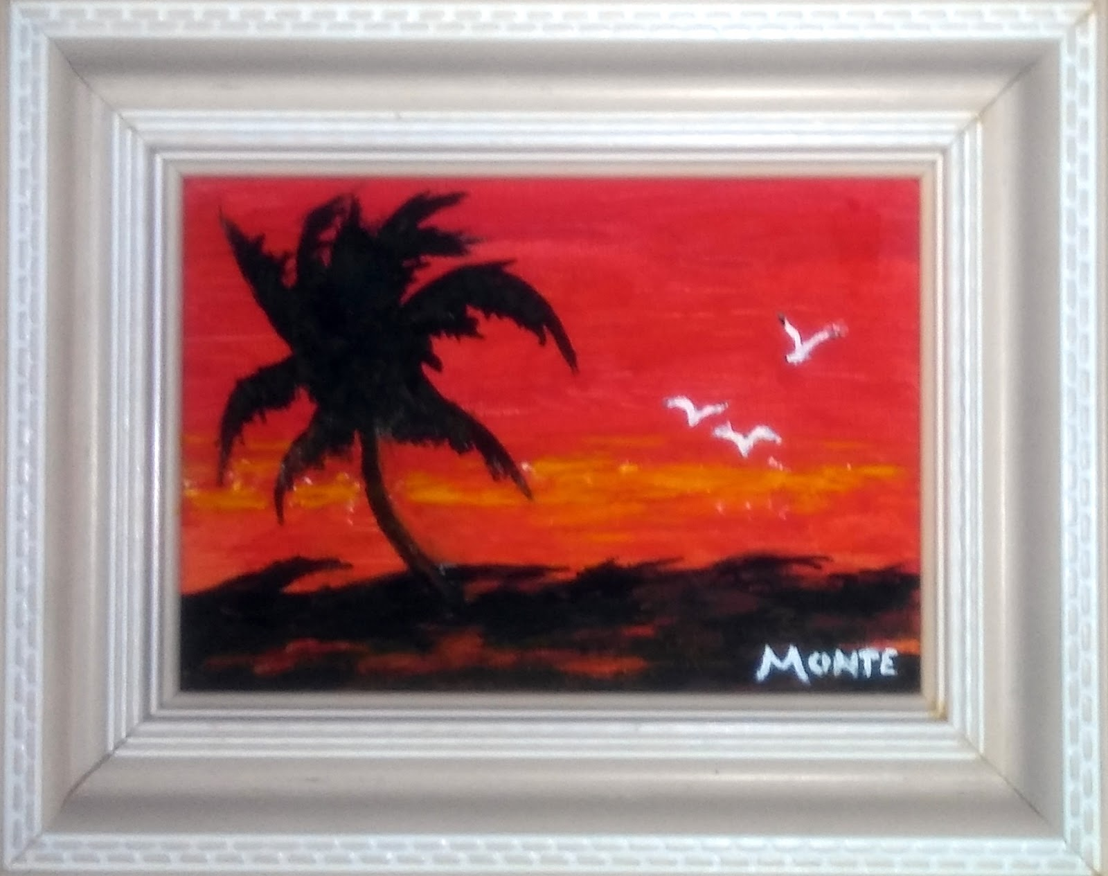 Brushworks by Monte: Standing Alone - Acrylic on Canvas Panel ...
