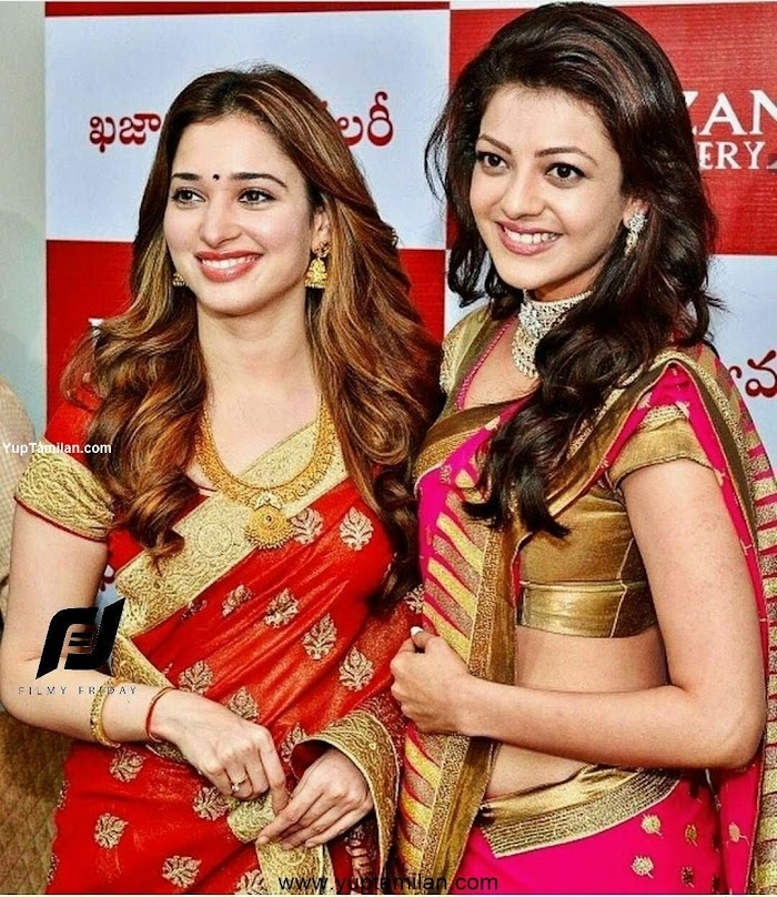 Kajal Agarwal & Tamannaah together Photos-Rare Friendship between Heroines