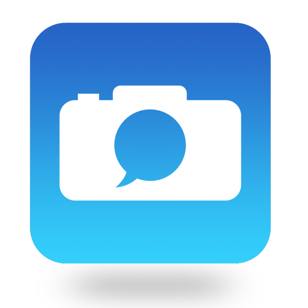 Chat With Camera App Icon For iOS App And Android App