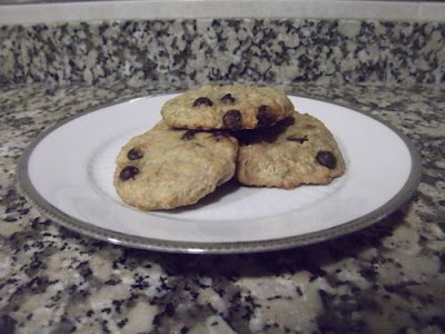 Galletas de avena, plátano y chocolate