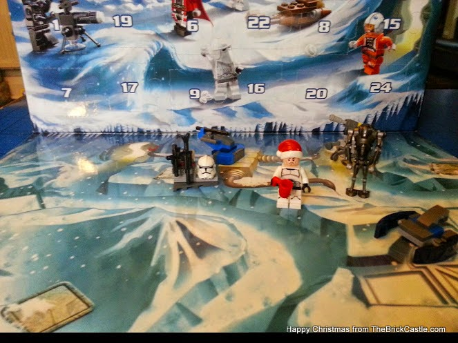LEGO Star Wars Advent Calendar Day 6 ship on background