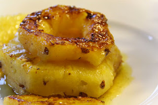 Ananas poêlé au caramel vanillé