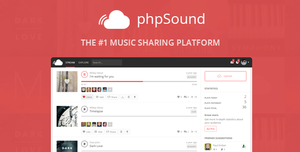phpSound v2.0.6 - Music Sharing Platform Free Download