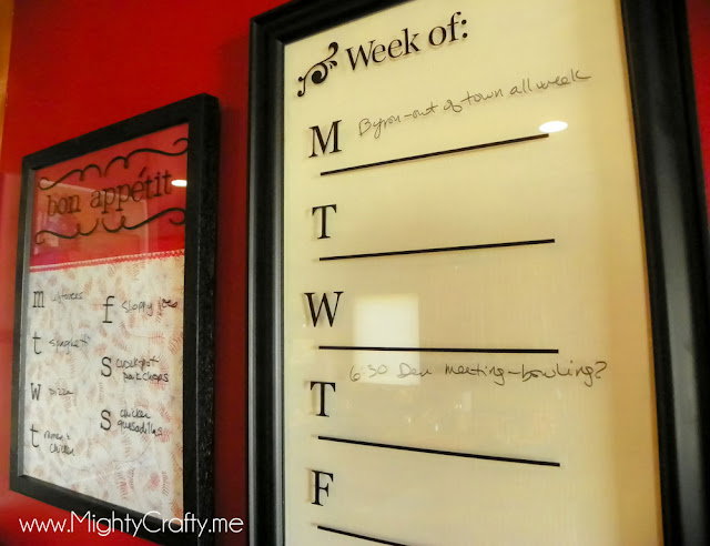 MightyCrafty.me - Menu Board and Weekly Calendar