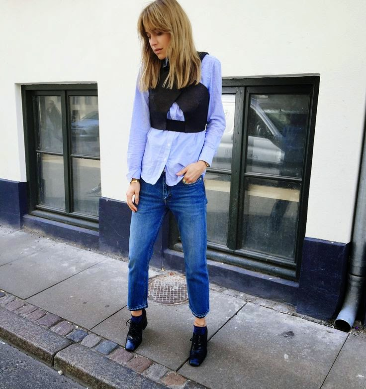 Look De Pernille Blue Button Down