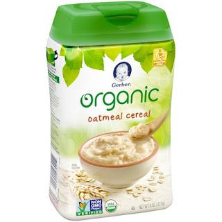 Bột ăn dặm cho bé Gerber organic oatmeal cereal hàng Mỹ xách tay