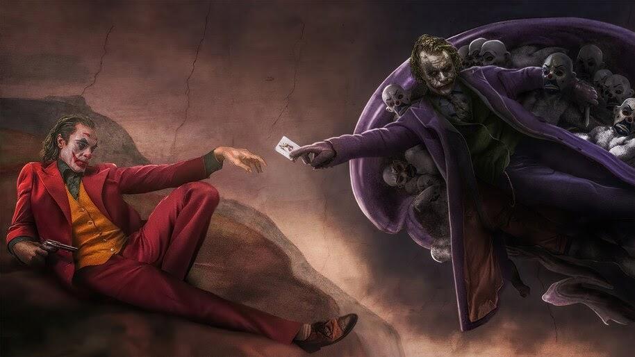 Joker, Joaquin Phoenix, Heath Ledger, 4K, #4.2302