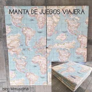 mimuselina blog regalos bebés 6-12 meses manta de juegos suelo viajera mapamundi