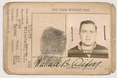 Wallace B. Dixon pictured on reverse of US Coast Guard ID card, issued in 1942 when he was employed by Standard Oil of NJ