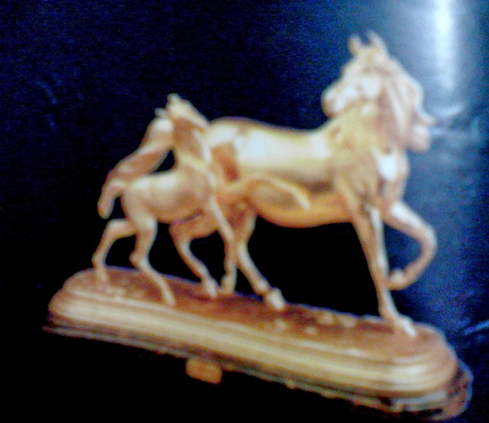 Antique Bronze Horses Sculpture