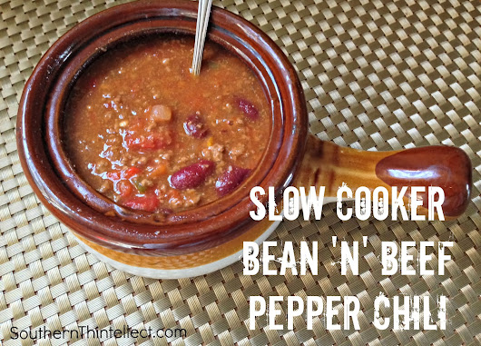 Slow Cooker Bean 'n' Beef Pepper Chili