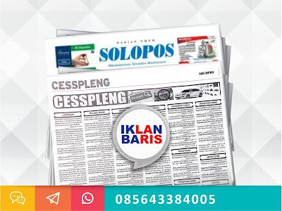 Pasang Iklan Cesspleng Solopos