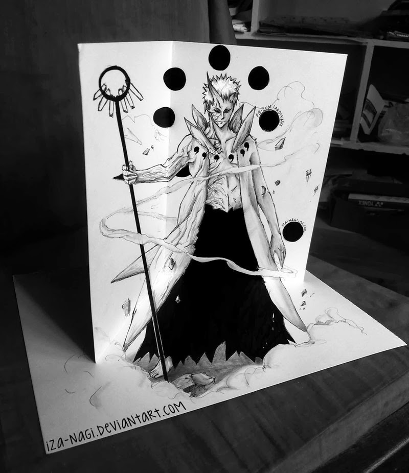 11-Obito-Unleashed-Izanagi-Aadi-aka-Iza-nagi-3D Pencil Drawings-www-designstack-co