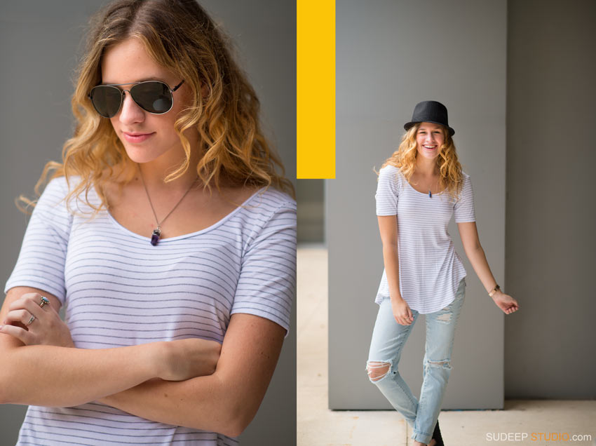 Skyline Senior Pictures Girl poses Ann Arbor - Sudeep Studio.com