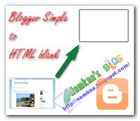 Tạo một trang HTML trống từ Blogger simple template