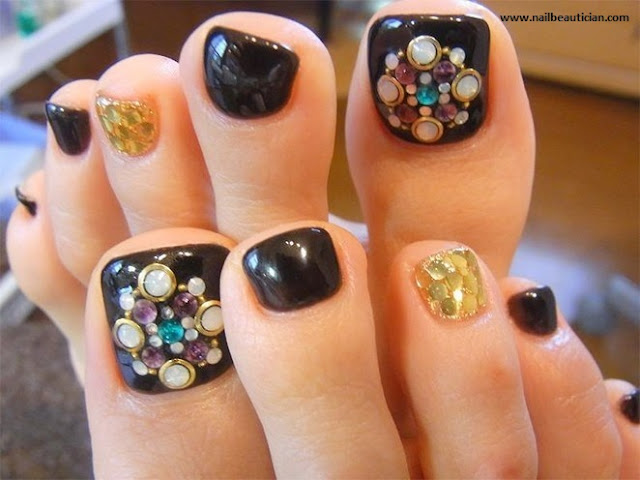 jewellery toe nail design